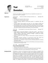 Emt Resume Objective Emt Resume Sample Ted Sweeten Cover Letter