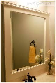 Diy Bathroom Mirror Diy Frame Bathroom Mirror Apartment Bathroom Remodeling Ideas For