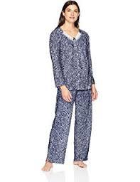 Aria Womens Long Sleeve Pajama Set At Amazon Womens