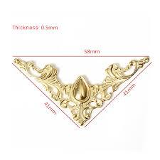 gold book corners 12pcs fashion book sbook al corner decorative protector cover of gold book corners