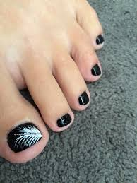 Black White Toe Nail Designs Pin By Guadalupe Gonzalez On Bellas Uñas In 2020 Simple