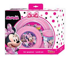 Disney Eating Set Minnie Mouse Pink 3 Piece Internet Toys