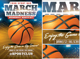 March Madness Flyer March Madness Basketball Flyer Template Flyerheroes