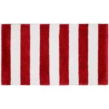 garland rug beach stripe crimson red white 21 in x 34 in bath