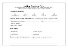 Employee Incident Report Templates Doc Free Premium Police