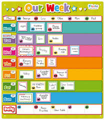 Activity Chart Kids Fiesta Crafts Our Week Magnetic Planner Activity Chart