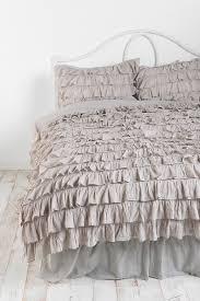 bedding set quilt ideas stunning grey ruffle bedding waterfall ruffle duvet cover perfect grey ruffle