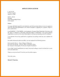 Application Letter Sample For Fresh Graduate Joblettered Visa