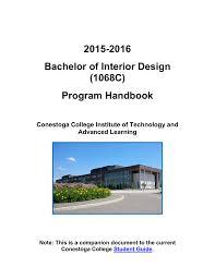 Interior Design Student Handbook 2015 2016 Bachelor Of Interior Design 1068c
