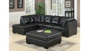 jarvis contemporary sectional black leather