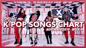 Top 100 K Pop Songs Chart November 2019 Week 4