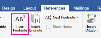 Endnotes References Add Footnotes And Endnotes In Word For Mac Word For Mac