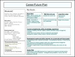 sample career plan career plan example template
