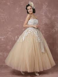lace wedding dress tulle champagne bridal gown with shrug cape