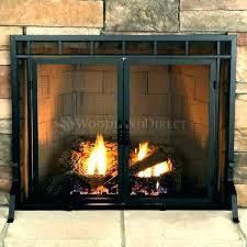 fireplace doors glass fireplace doors wonderful modern decoration replacing