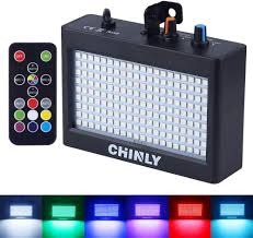 Chinly Led Grow Light Strobe Light Chinly Led Party Stage Lighting Rgb 35w 180leds Sound Control Auto Operation Strobe Speed Portable Adjustable For Disco Bar Wedding