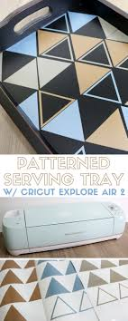 How to Make a DIY Patterned Serving Tray - The Crafty Blog Stalker