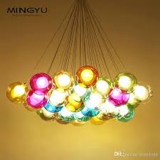 glass bubble chandelier colorful glass chandelier modern hand blown glass bubble chandelier for restaurant coffee
