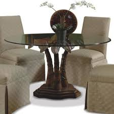 palm tree furniture. Fine Furniture Round Glass Dining Table With Palm Tree Pedestal Base For Furniture