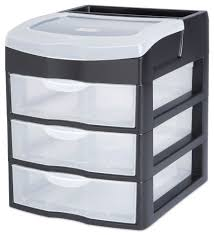 sterilite 3 drawer desktop unit black storage organization walmart canada ping 7 47