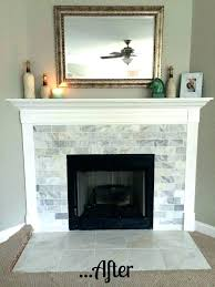 reface brick fireplace with