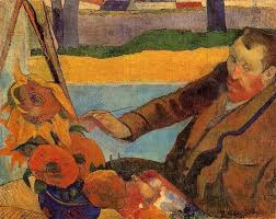 van gogh painting sunflowers paul gauguin