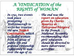 a vindication of the rights of women essay published in twenty one  a vindication of the rights of w by derya a vindication of the rights of w