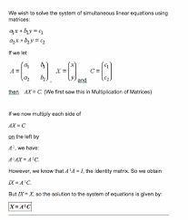 review an algorithm for computing matrix inverse