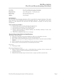 creative job description post event housekeeping resume arena fullsize