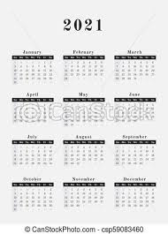 2021 Year Calendar Vertical Design
