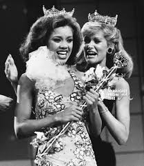 「1983–Vanessa Williams becomes the first black Miss America.」の画像検索結果