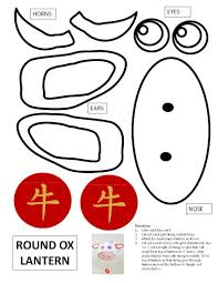 Check out our year of the ox selection for the very best in unique or custom, handmade pieces from our shops. Printable Template For Year Of The Ox Lantern In 2021 Chinese Crafts Chinese New Year Crafts Chinese New Year Crafts For Kids