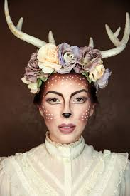 easy deer makeup tutorial for halloween fawn makeup