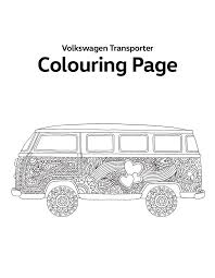 Download The Printable Volkswagen Transporter Colouring Page For
