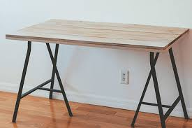 diy wood stained desk | if found, make.