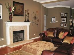 cozy living room with fireplace. Small Living Room Fireplace With Tile And White Mantel On Dark Taupe Walls Wood Floors Cozy