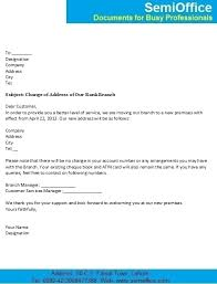 Change Of Address Letter For Customers