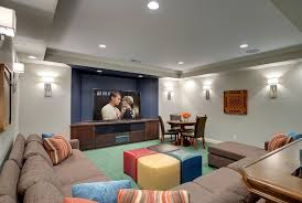 Basement Lighting Design Unique Design Ideas