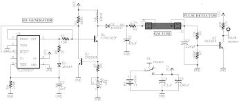 diy geiger counter circuit figure 8 front end circuit of a diy geiger counter kit