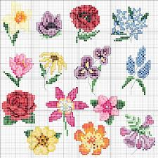 Cross Stitch Flower Patterns Simple Acul De PlatinăModele De O Noaptegreat Collection Of Flowers