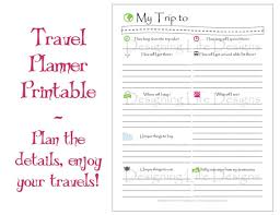 Travel Trip Planner Vacation Travel Planner Printable Pdf Sheets My Trip To