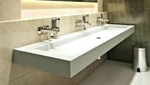 trough style sink. Wonderful Trough Trough Sink With 2 Faucets Bathroom Commercial    In Trough Style Sink