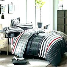 king size bed sets comforter black and gray sheets white set grey red stripes printing salon