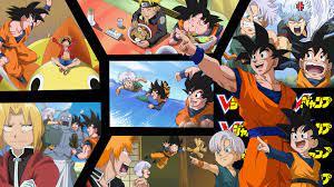 Wallpaper One Piece, Crossover, Naruto, Dragonball, Full Metal Alchemist,  Gintama, Bleach - Wallpx