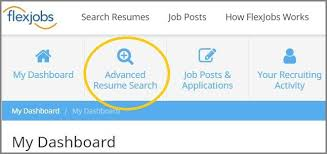 Resume Search Magnificent Sourcing Candidates Use FlexJobs' Advanced Resume Search For FREE