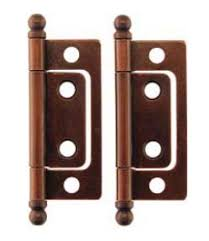 Vintage cabinet hinges Concealed Amazoncom Nonmortise Cabinet Hinge Pair Small Antique Copper