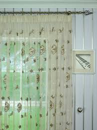 Elbert Flower Pattern Embroidered Pencil Pleat White Sheer Curtain Panels  Online Heading Style