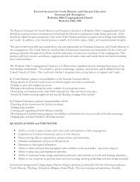 Youth Ministry Resume Examples Youth Minister Cover Letter Savebtsaco 2