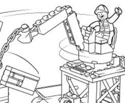 Lego Escavatore Da Colorare E Da Stampare Gratis Disegni Da
