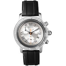 hermes watches jomashop hermes clipper chrono silver dial black rubber men s watch